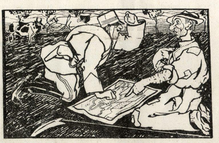 Un'illustrazione di Umberto Boccioni, Rivista Mensile, gennaio 1908